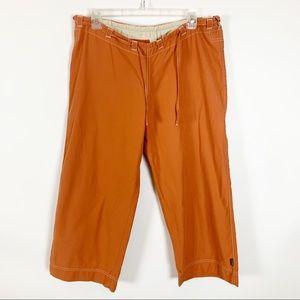 Prana Orange Cropped Pants Size Large